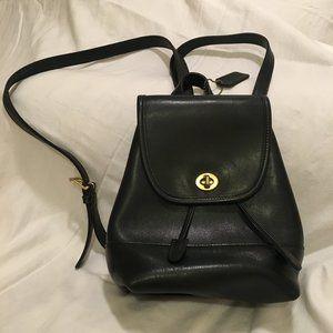 Vintage Coach Black Backpack Handbag
